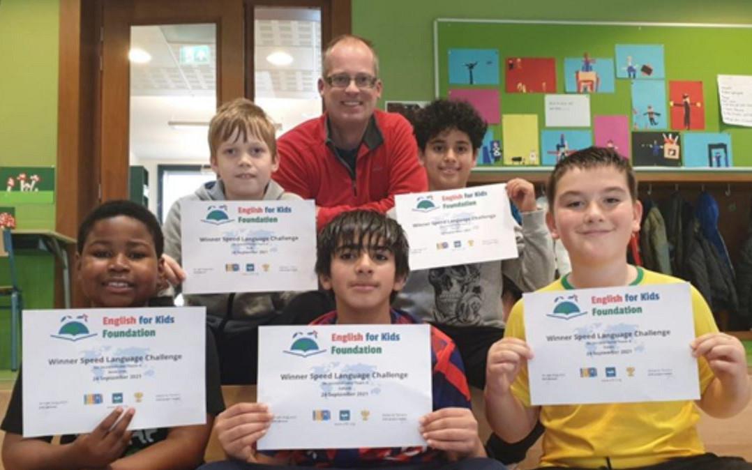 Basisschool De Jacobsvlinder wint Europese Language Speed Challenge